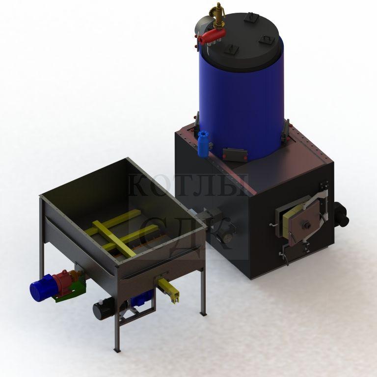 котел на термомасле 100 кВт с автоподачей вид сверху