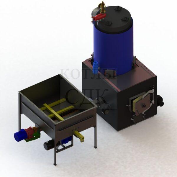 термомасляный котел 300 кВт с автоподачей вид сверху