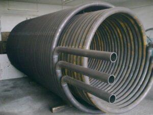спирально-витой теплообменник змеевик термомасляного котла фото